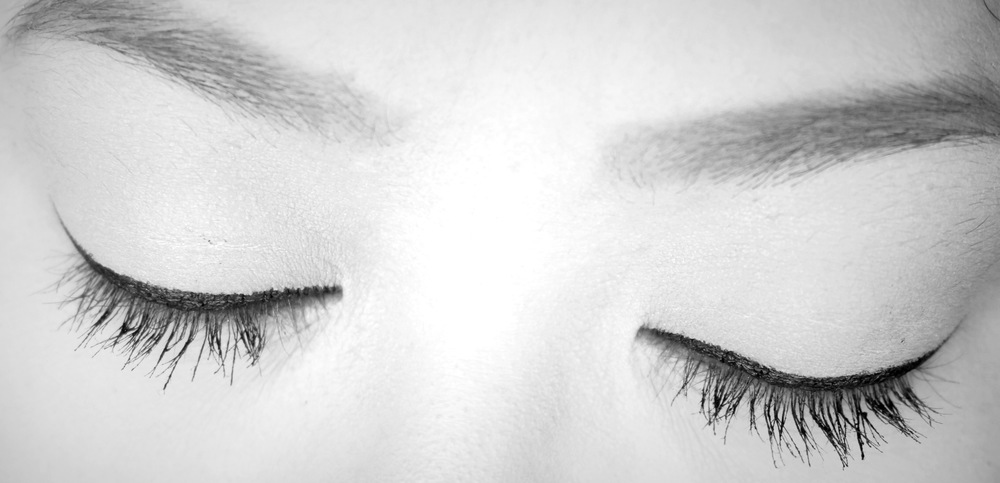 I swear I don't have this many lashes! Rendered the photo in black and white so you can see this miracle more clearly.
