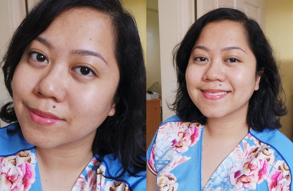 My face right now (literally). No makeup save from tinted lip balm and no photo editing, except brightening up the pic and cropping. My eyes are puffy because I had an allergy attack yesterday.