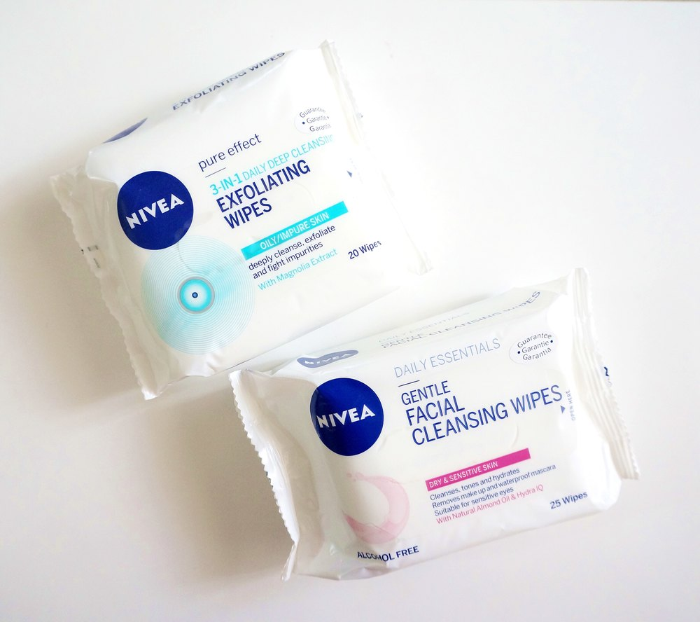 New from Nivea: Gentle Facial Cleansing Wipes and Exfoliating Wipes