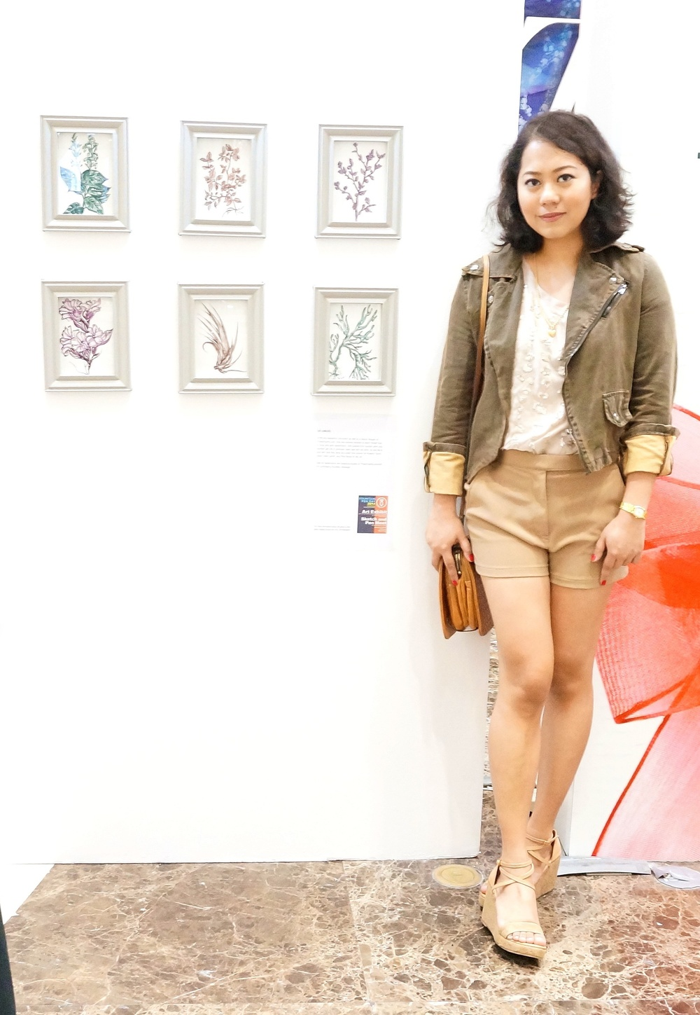At my first ever art exhibit in SM Aura last November for Fountain Pen Day. Still can't believe this happened, sometimes.