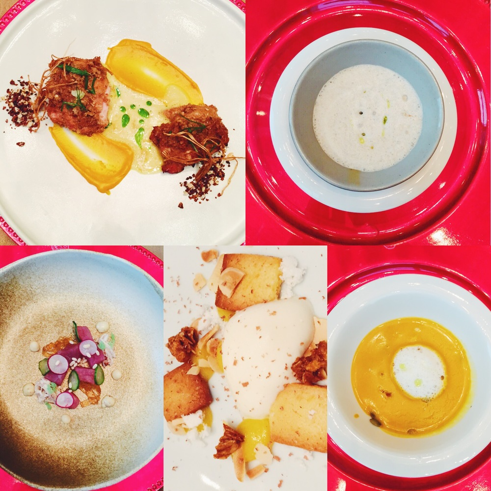 A delicious dinner to bring out that glow: Foie Gras Taho as a Glow Enhancing Starter, Pumpkin Soup as a Radiance Intensifier, Tuna Crab Salad for Omega Boosting, Mindanao Styled Chicken Thighs as the Rejuvenating Entree, and finally Calamansi Tart as the Skin Brightening Desert.