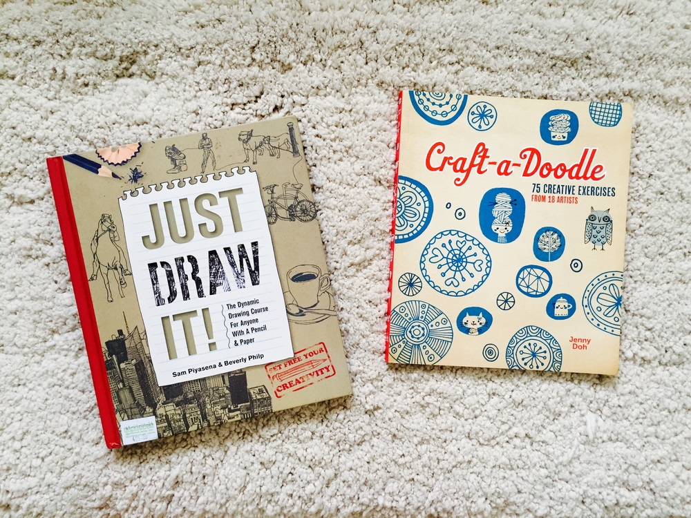 Here are two excellent guides on drawing and doodling: Just Draw It by Sam Piyasena & Beverly Philp and Craft-a-Doodle by Jenny Doh. These are two of my first few art books and they really inspired me to create my own art!