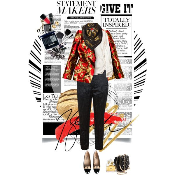 Statement jacket by Alexander McQueen, via Polyvore
