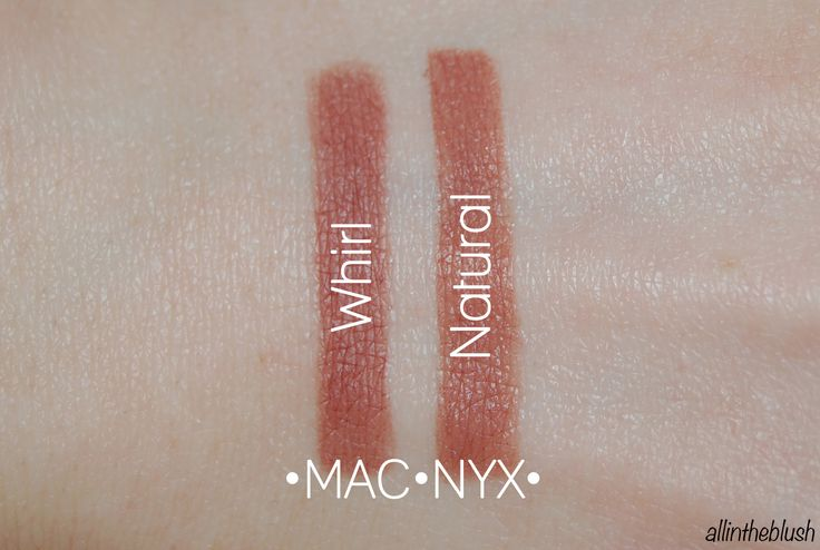 MAC Whirl and NYX Natural (Image via allintheblush.com)