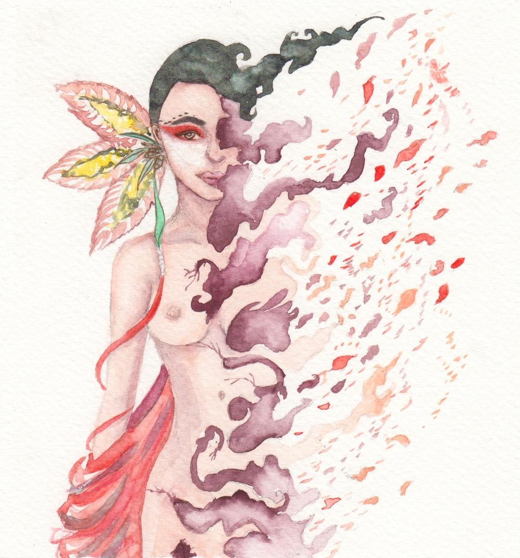 Dissolution / Watercolor on paper by Liz Lanuzo