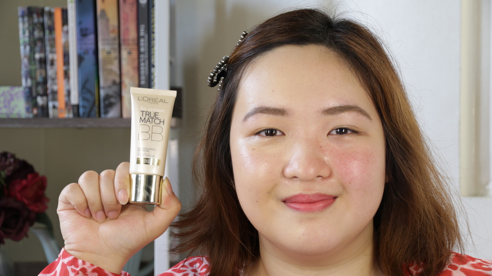 Left side: Wearing the L'Oreal True Match BB