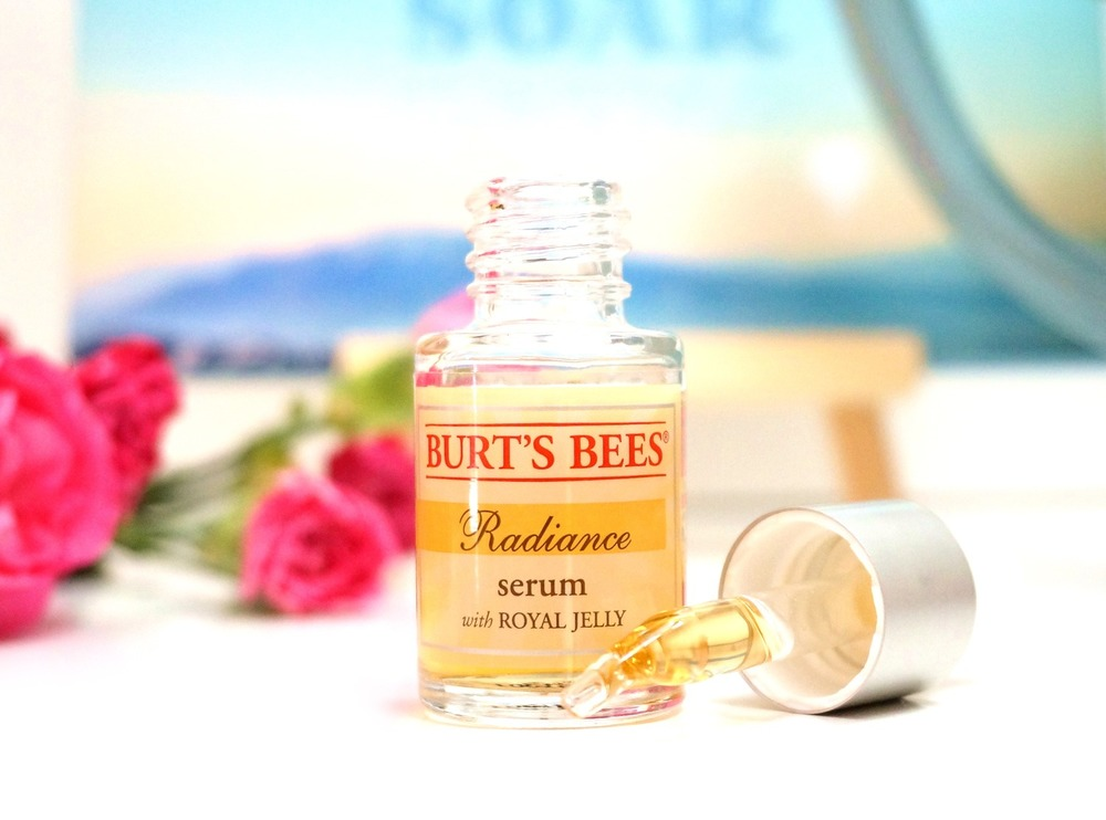 Our current favorite serum,  Burt's Bees Radiance Serum , is formulated with glycerin. We recommend it even for extremely oily-skinned gals who have trouble with gel moisturizers.