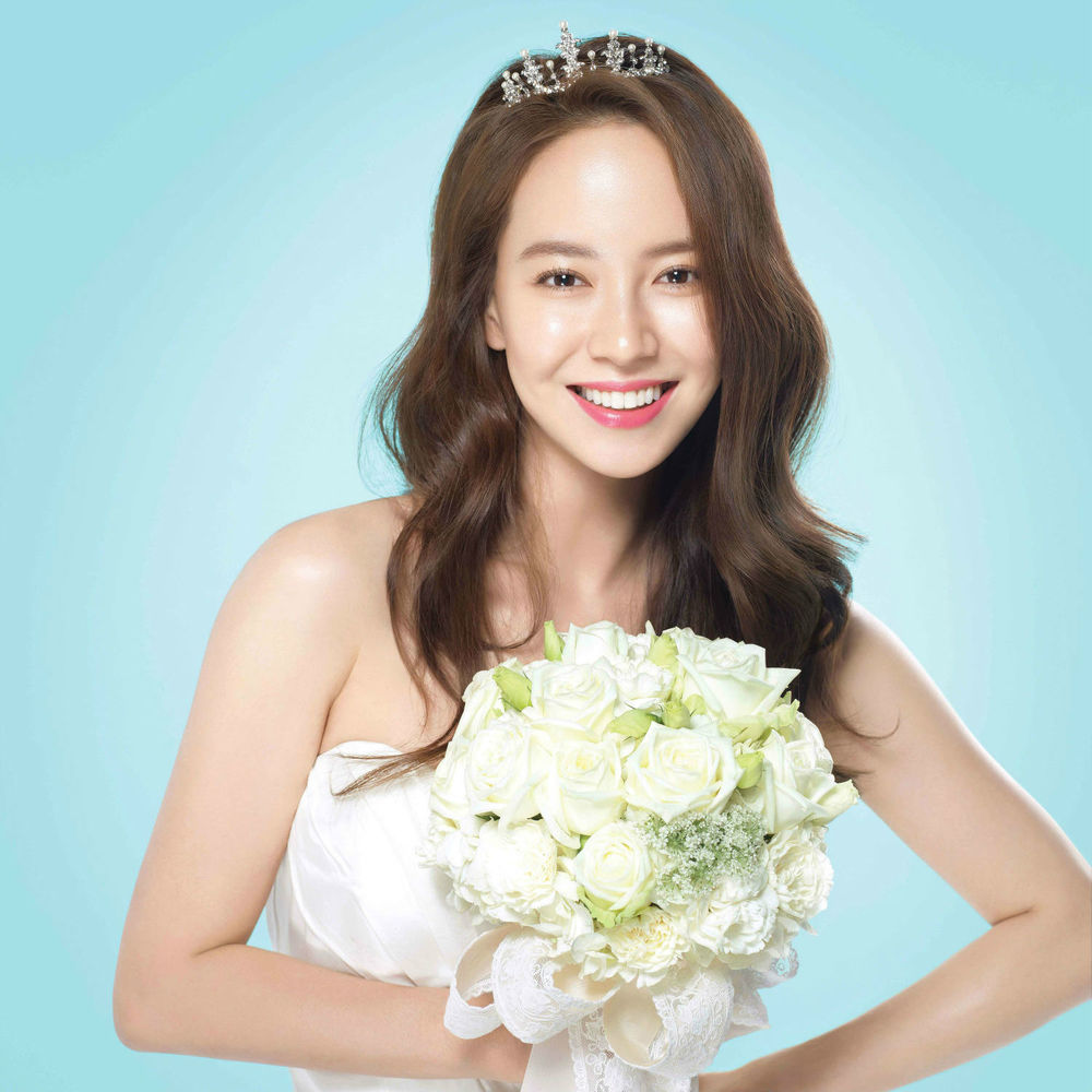 Song Ji Hyo for Banila Co.'s White Wedding line