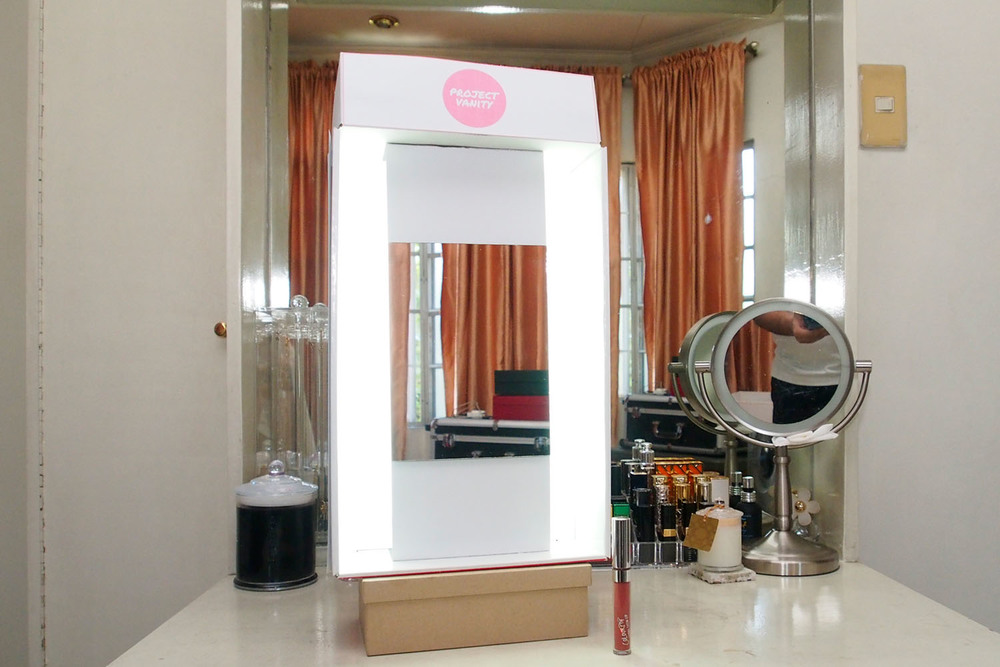 how to diy your own hollywood mirror for just 500 pesos project vanity. Black Bedroom Furniture Sets. Home Design Ideas
