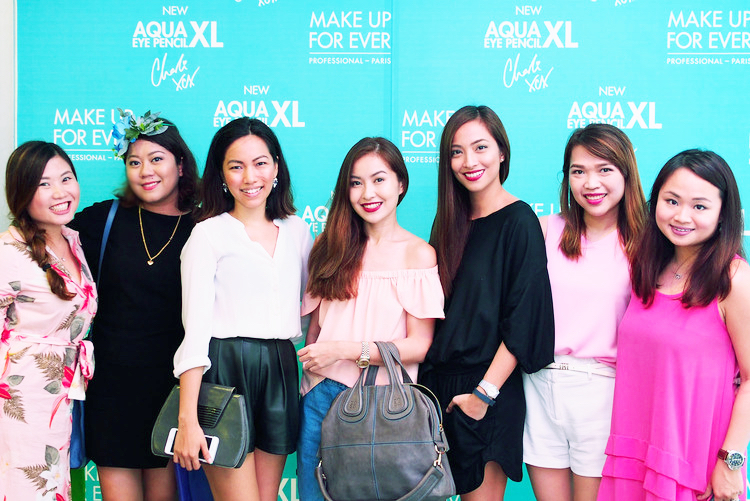 The beauty girls were in full force at the event: Tara, Liz, Nicole, Angela, Jackie, Nikki, and Marj all love MUFE <3