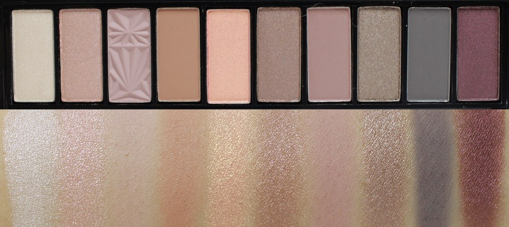 Swatches of L'Oreal La Palette Nude in Rose