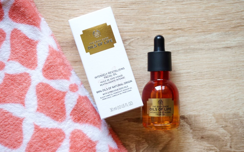 Try: Body Shop Oils of Life Facial Oil