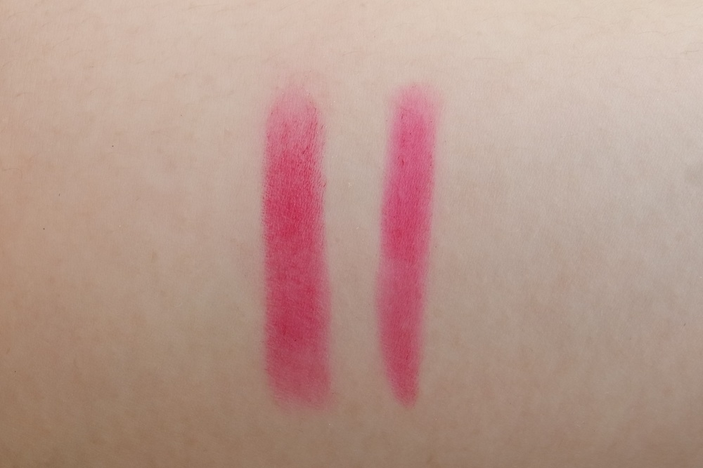 Left: Pink Sugar, Right: NARS