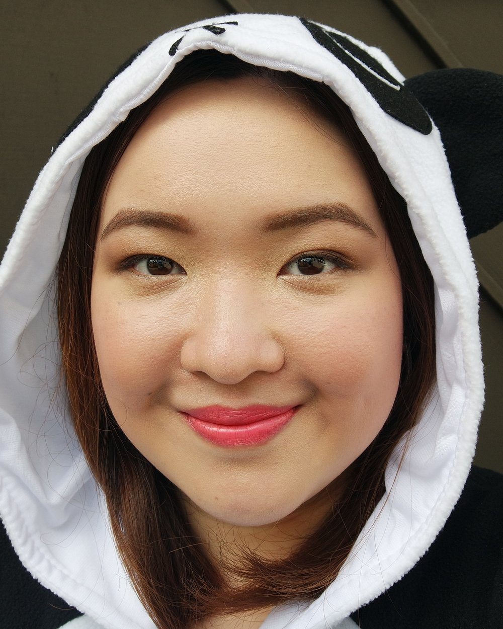 Products Used: Panda's Dream Clear Pact in 02 Beige, Panda's Dual Lip and Cheek in 02 Pink Baby, Panda's Dream Contour Stick in 01 Highlighter, and Panda's Dream Lip Crayon in 02 Heart Pink
