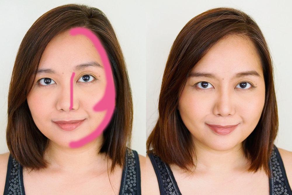 As nose contour
