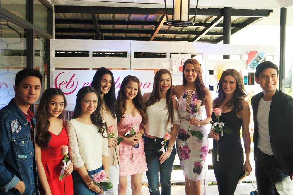 From left: Sam Concepcion, Andrea Brillantes, Angelina Montano, Janelle Olafson, Dianne Medina, Sunshine Cruz, Chanel Olive Thomas, Daiana Menezes, and Christian Bautista