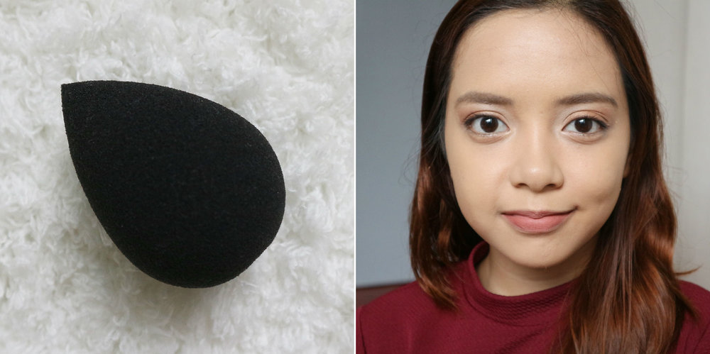 I did a bad job of blending the foundation to my hairline. Not the sponge's fault!