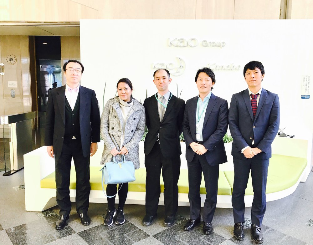 With the Kanebo team in Tokyo:  Mr Liu, Mr Kosaka, Mr Abe, and Mr Hara