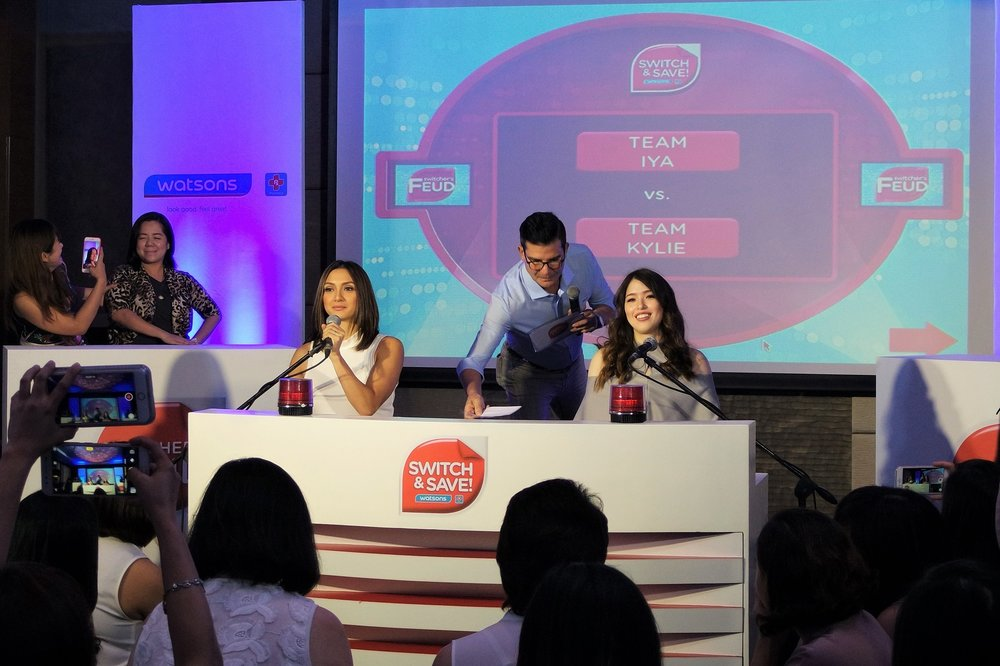 Iya Villania and Kylie Padilla face off during the Switchers Feud game.