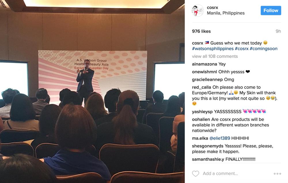 Screencap from Instagram user @cosrx