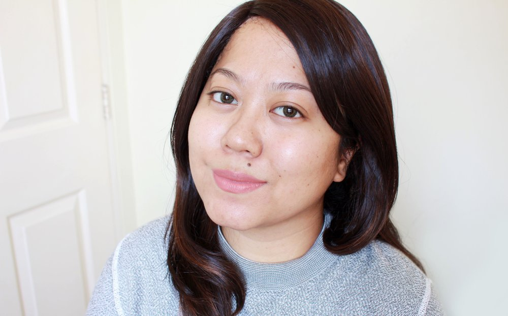 Bare face! I have some freckles and old blemishes but it's generally clear now