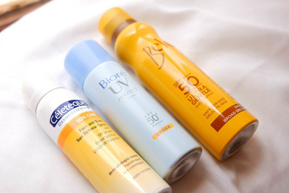 The Sunscreen Show Down: Spray-on sunscreens under P550
