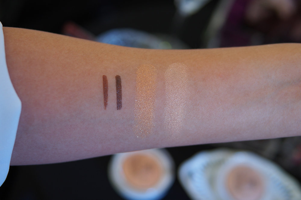 From left: Ever Bilena All Day Brow Pen in Blonde and Brunette, EB Advance Glow Out Highlighter in Candlelight and Strobe