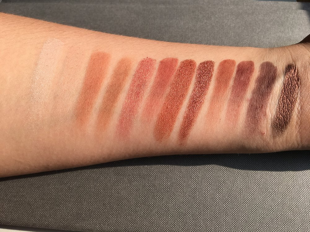 Under direct sunlight, single swatch, no primer