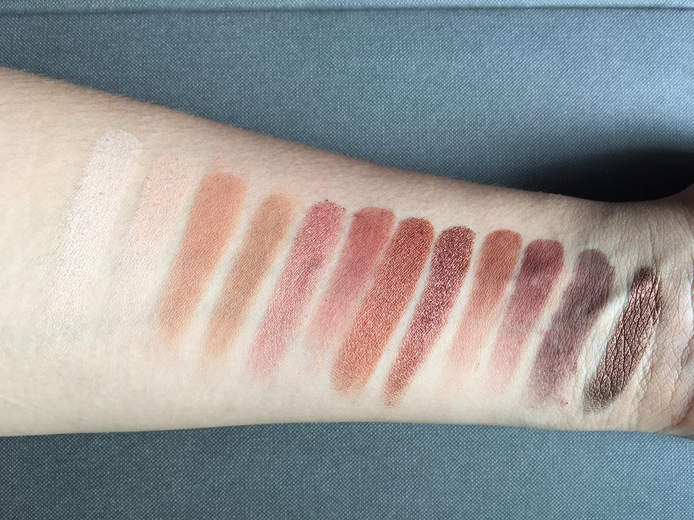 Under indirect sunlight, single swatch, no primer