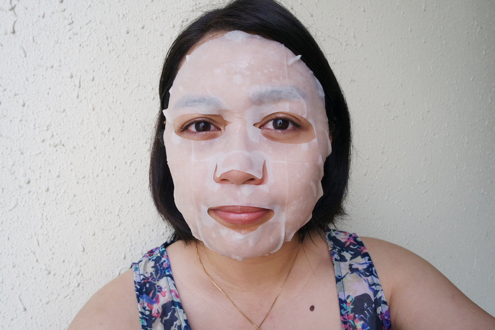 A good fit: the mask cut-outs fit my features well and the flap stayed flat against my nose