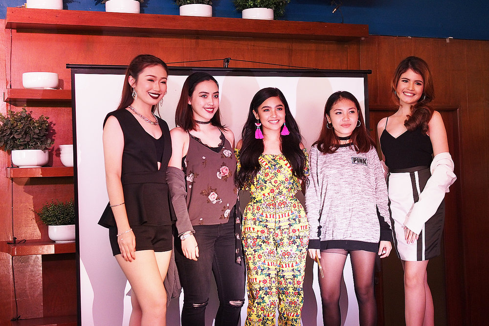 Andrea with the #CarelineGirlGang: Azusa, Regine, Megumi and Alyana