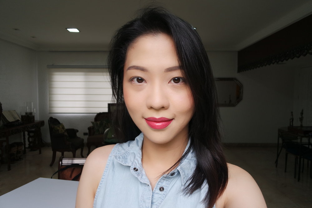 FOTD with Velvet Lip Cream in Flirty; Blush and Highlight Palette in Sun-Kissed