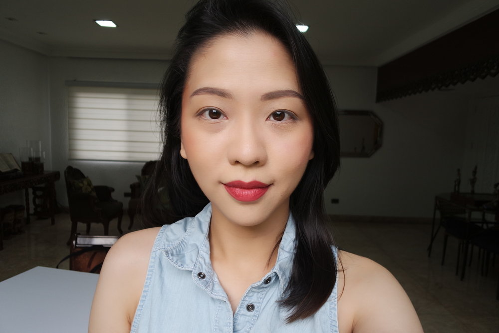 FOTD in All-Day Intense Matte Lipstick in Charming]