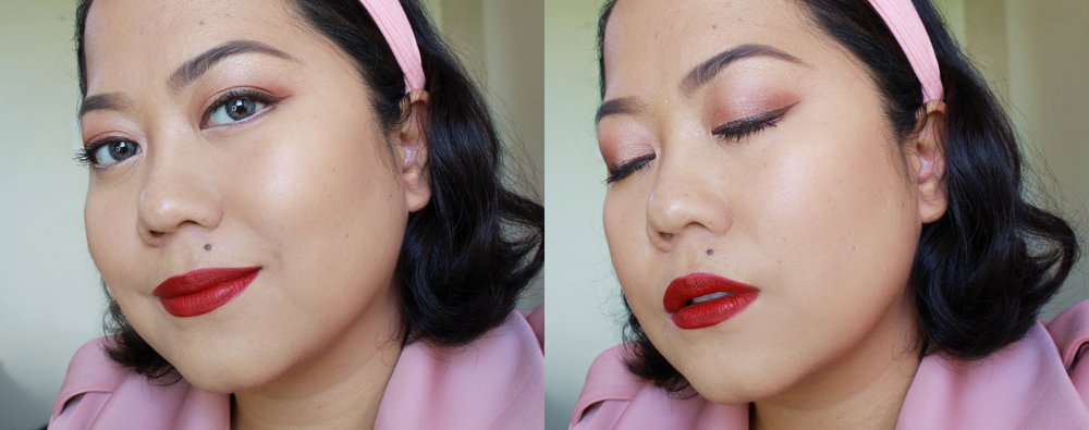 Wearing the Make Up For Ever Ink Liner in M-62