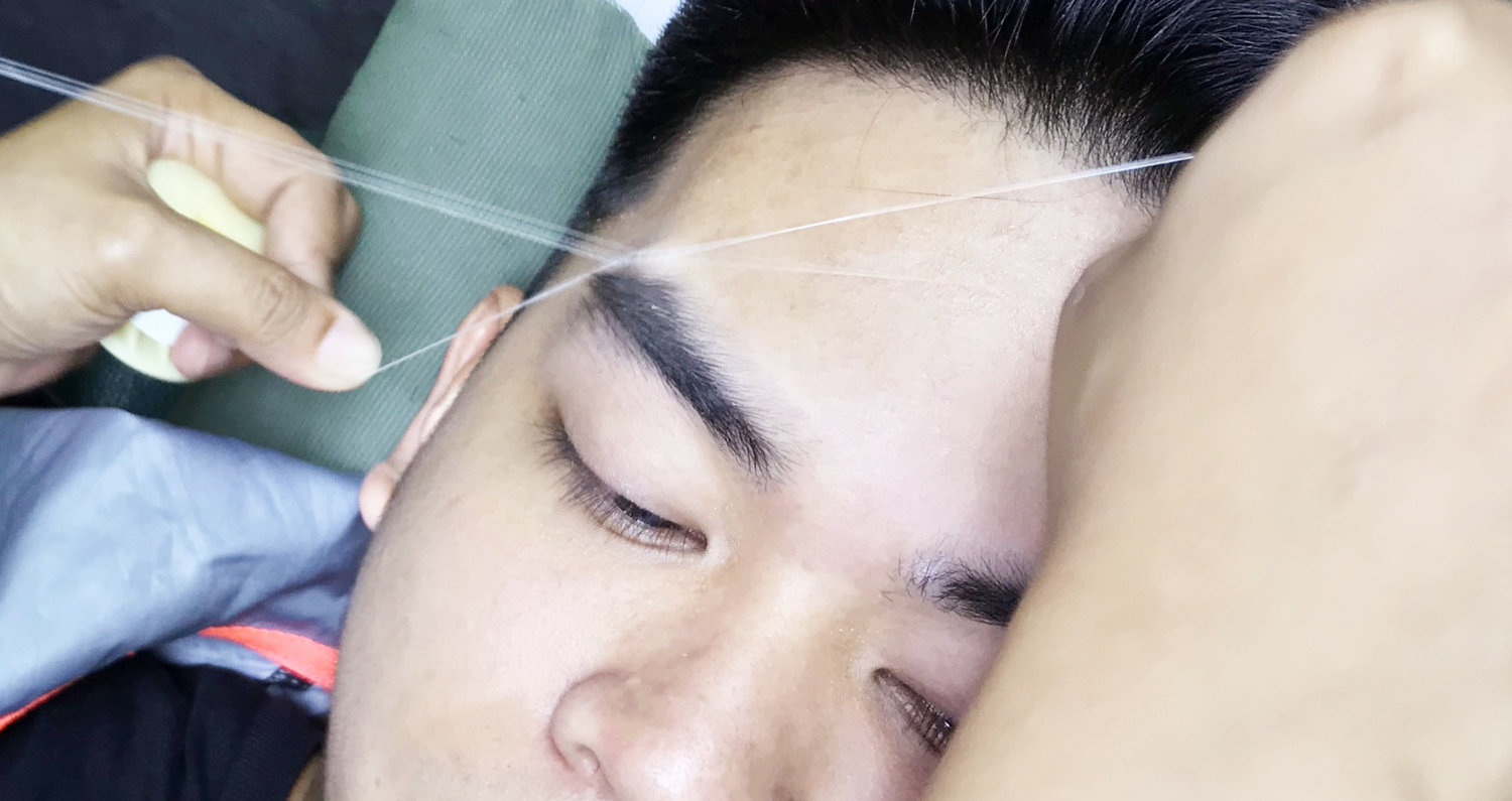 Brows for bros: What happened after a man lost his threading