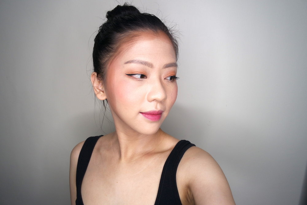 blk Cosmetics Highlight, Blush and Contour Palette in  Sun Kissed , contour unblended