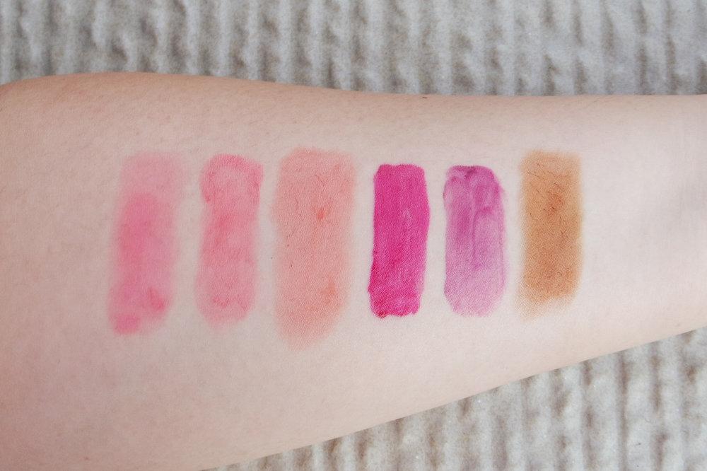 From left:Sooper Beaute, Careline, Skin Genie, Skinpotions, Ever Bilena, and Lipmate Artisan.