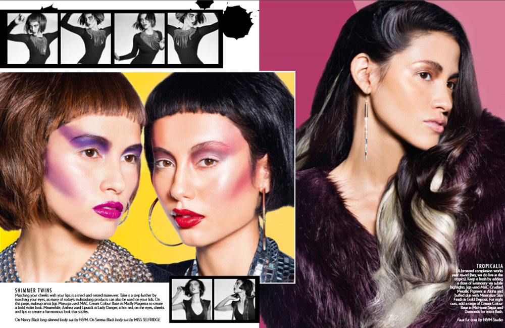 Anthea's first beauty editorial shot alongside then-mentor, Jigs Mayuga