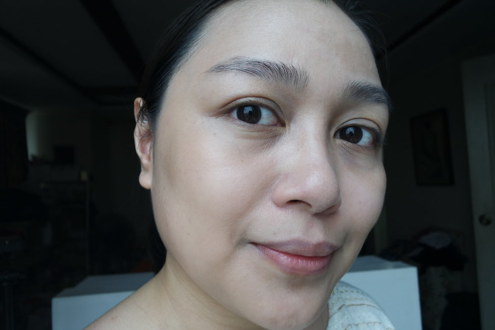 Wearing the White Regeneration Colour Change Nude Cream in Natural