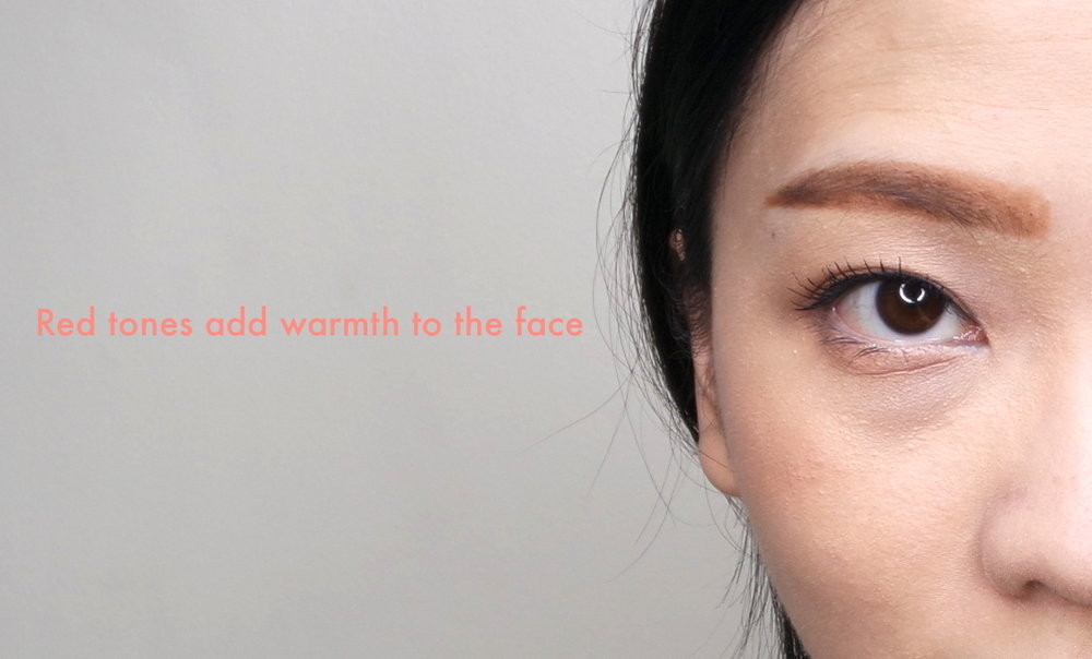 Chose a warm, reddish brow product. You may also opt for a very soft gray if red bothers you.