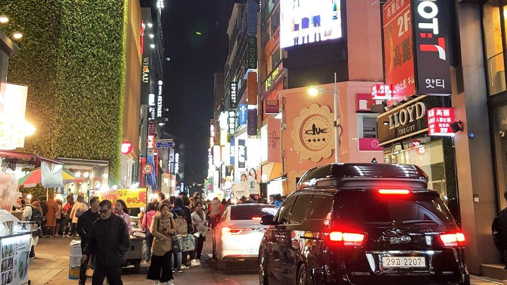 Myeongdong at night