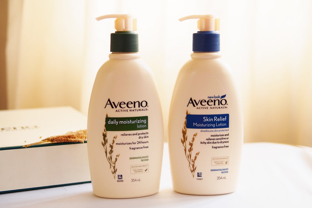 Aveeno Active Naturals Daily Moisturizing Lotion (P649.75/354ml), Aveeno Active Naturals Skin Relief Moisturizing Lotion (P812.25/354ml)
