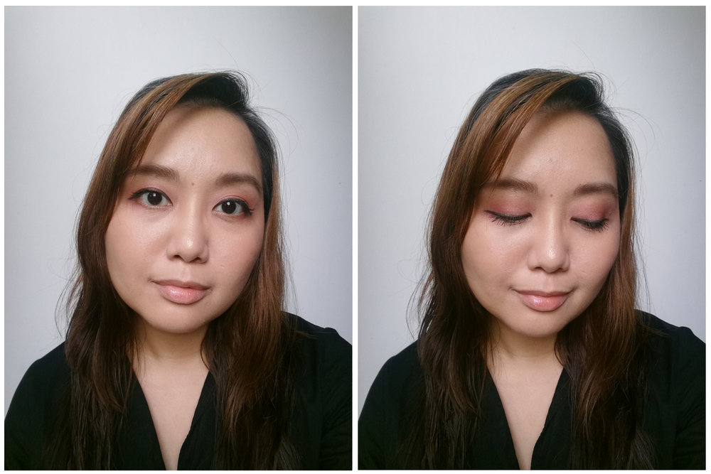 Did my eyes with the Etude House Pinky Galaxy palette