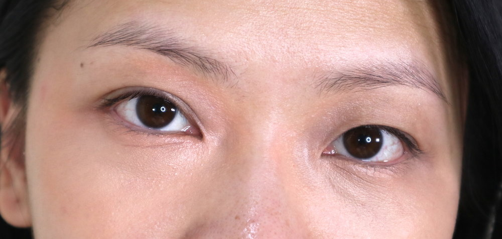 with corrector and concealer