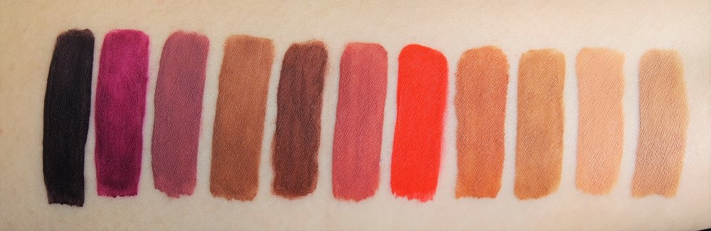 Swatches, from left: 38, 43, 44, 42, 41, 45, 39, 40, 48, 46, 47