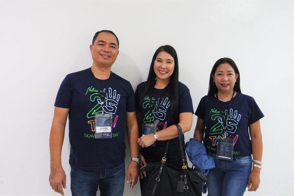 Natasha regional managers Jocelyn Guerrero, Joseph Taroy and Karleen Gonzales