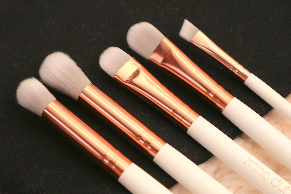 From left: Small Eye Shadow Blender, Big Blending Brush, Eye Shadow Shader Brush, Concealer Brush, Small Angled Brush