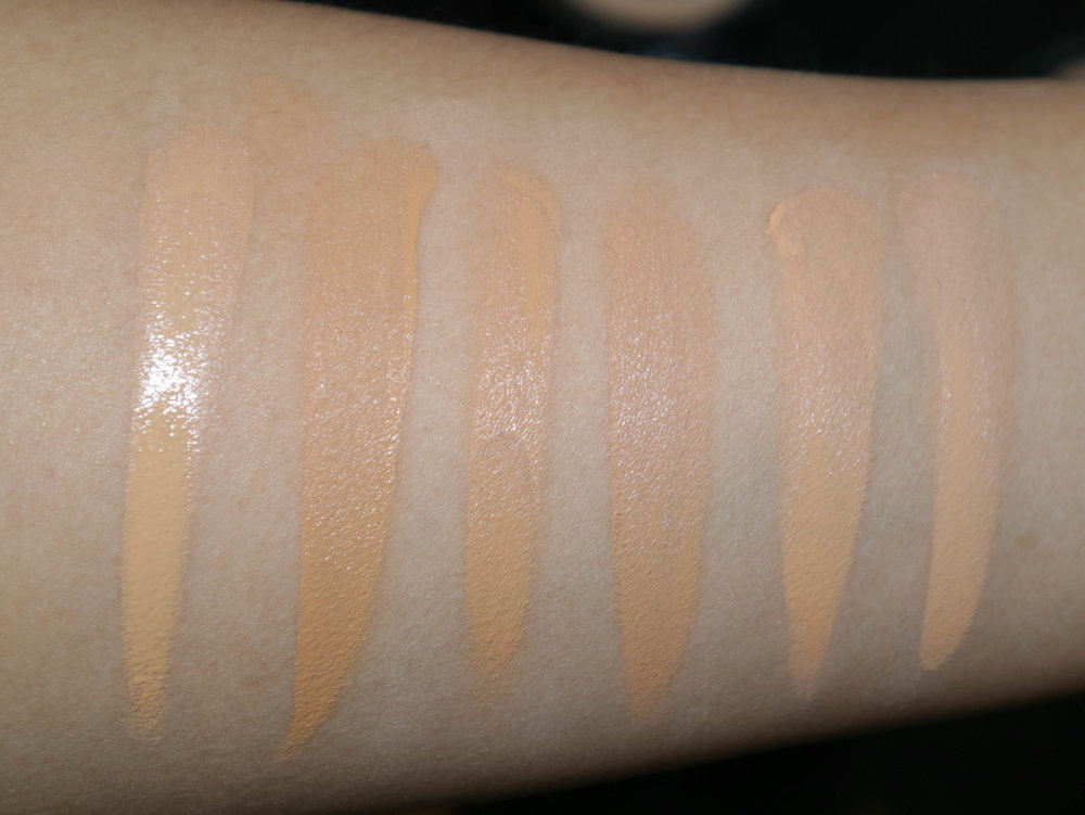 Swatches, from left: NC37, NC40, NC35, NC30, NC25, NC20