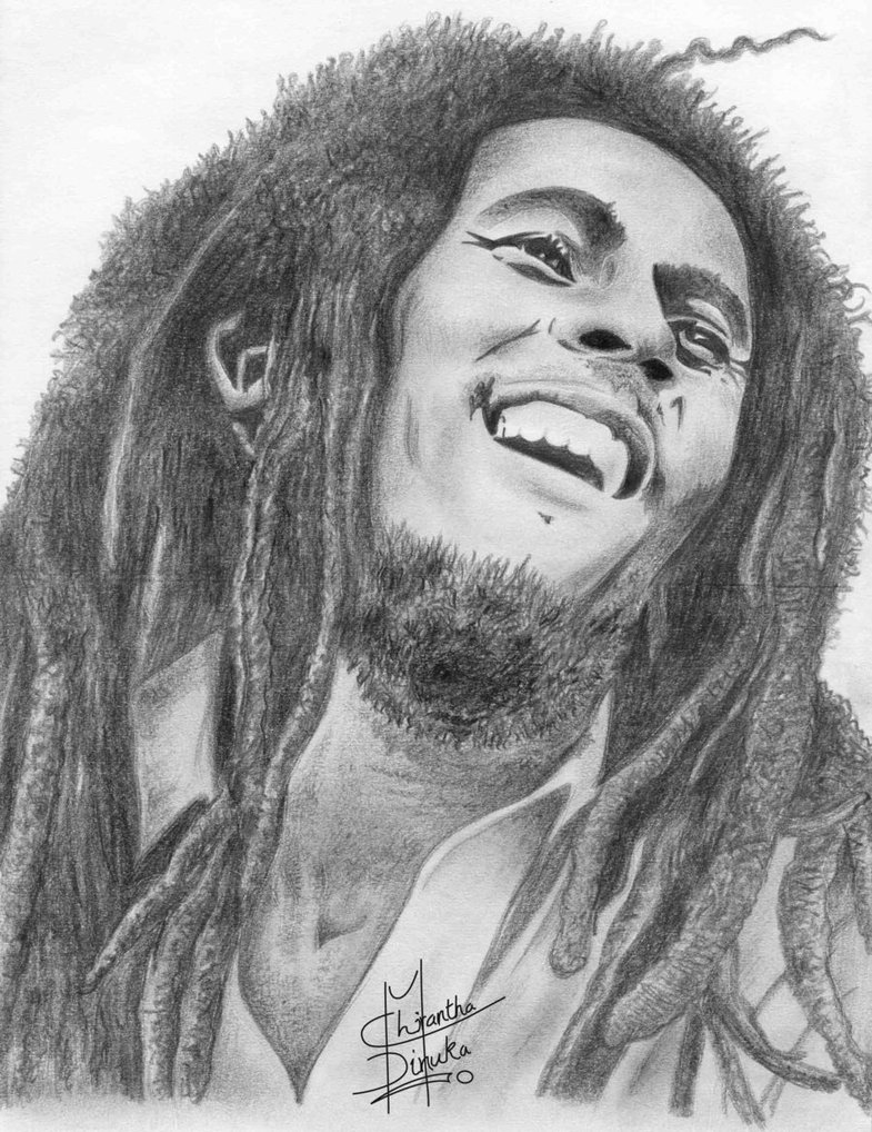 Bob Marley drawing by http://chirantha.deviantart.com/art/Bob-Marley-Drawing-212942377