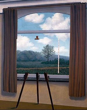 René Magritte's The Human Condition, Source http://research.uvsc.edu/albrecht-crane/3400/human%20condition.jpg